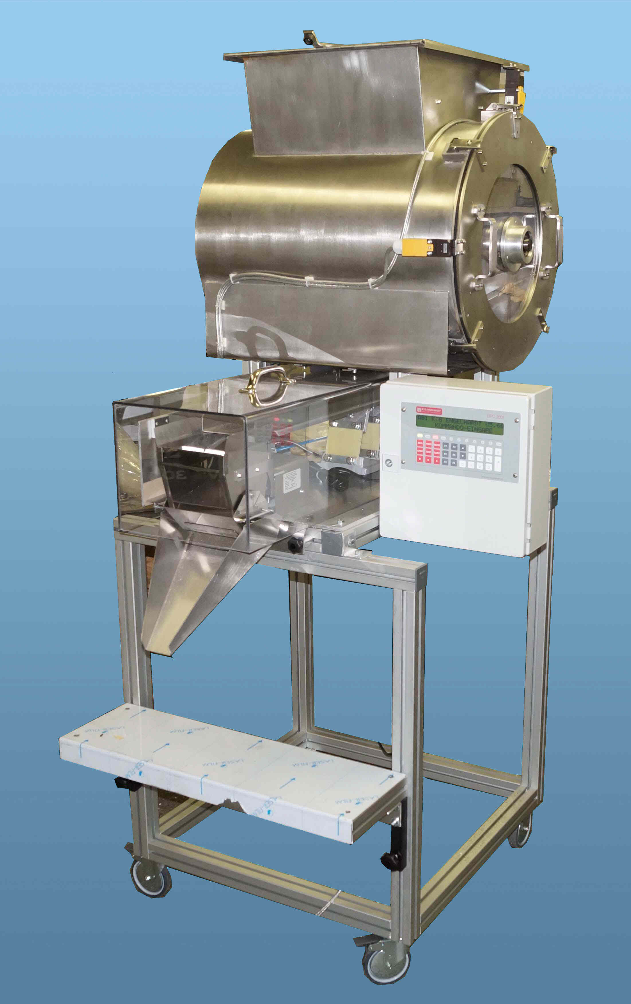 Batch weigher, filling unit, bag scales, bagging scales, Brake Pad weigher, dosing, dosing weigher, dosing scale, electronic scale, spice scale, fiber scale, small-volume scale, Smallest quantities filling scale, linear scales, Flour scale, multicomponent scales, mixing drum scales, powder scales, mixer drum level, tea scale, drum scales, weighing equipment, weighing machine, weighing system